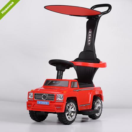 Машинка Каталка с козырьком M 3597B-3(2) Mercedes, красная ***