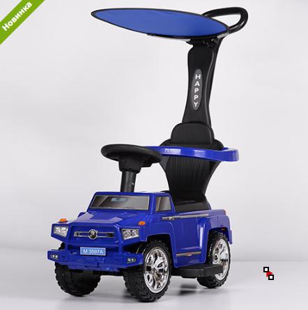 Машинка Каталка с козырьком M 3597A-4(2) Mercedes, синий ***