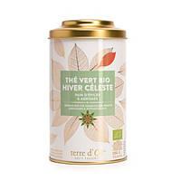 """Органический зеленый чай с """"Рождественской коллекции""""  Чудесная зима 100г , Terre d'Oc"""