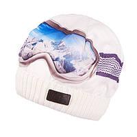 Шапка  зимняя 3D принт очки лыжника для мальчиков и девочек TuTu 61. арт. 3-003127 (52-56), фото 1