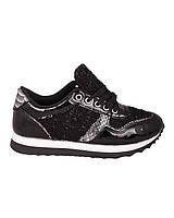 Кроссовки черные на шнуровке женская обувь яркие 4510