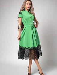 Летнее платье с франц. кружевом р-р 44 яблоко