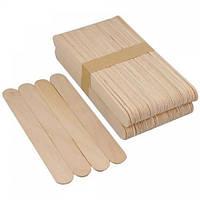 Шпатель деревянный для депиляции, 10 штук ( большой )
