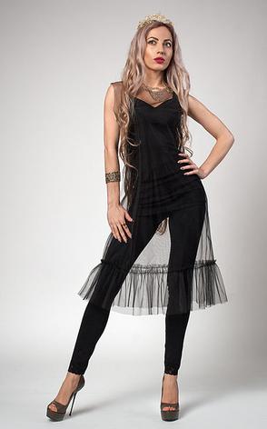 """Сукня-чохол """"Look"""" євро фатин розмір 42-44,46-48, чорне, фото 2"""