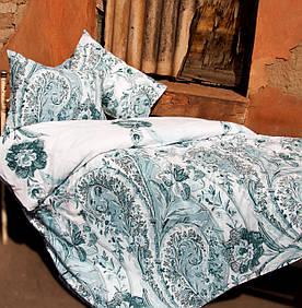 Постельное белье Lotus Premium - Madeleine бирюзовое семейное
