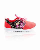 Кроссовки коралловые с цветочным принтом обувь для женщин хорошие 7571