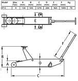 Домкрат гидравлический подкатной 4 т, Compac 4T-C , фото 3