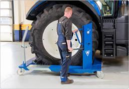 Тележка для транспортировки колес сельхоз и строительной техники 1500 кг, AC Hydraulic, WT1500NT, фото 2