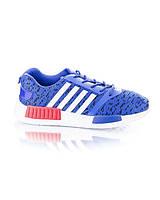 Кроссовки синие на шнуровке обувь женская яркие 9542