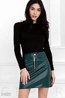 Кожаная юбка-трапеция Gepur 24803