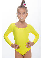 Купальник для гимнастики и танцев детский ЖЕЛТЫЙ