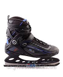 Ледовые коньки FILA PRIMO TECH BLACK/BLUE размер 40,5 (UK7)