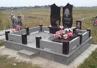 Ограда на могилу гранит №0002