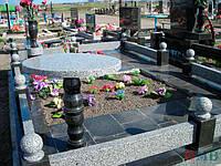 Ограда на могилу гранит №0006
