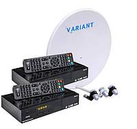 Комплект на 3 спутника для 2-х ТВ Базовый HD Эконом Плюс-2