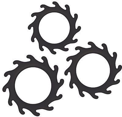 Набор из 3 эрекционных колец Renegade Gears, черный