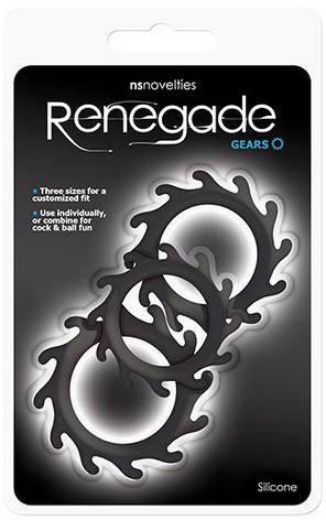 Набор из 3 эрекционных колец Renegade Gears, черный, фото 2