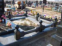 Ограда на могилу гранит №0014