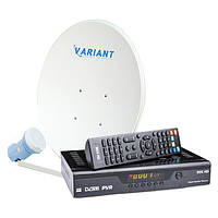 Комплект для сутникового ТВ на 1 спутник «Для Дачи» HD Выгодный