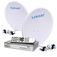 Комплект для сутникового ТВ на 4 спутника «Украина+Россия» SD