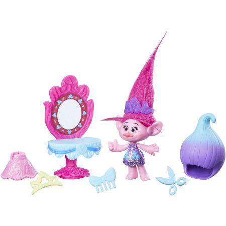 П, Игровой набор коллекционная фигурка и  аксессуары из мультфильма Тролли DreamWorks Trolls Poppy Style Set
