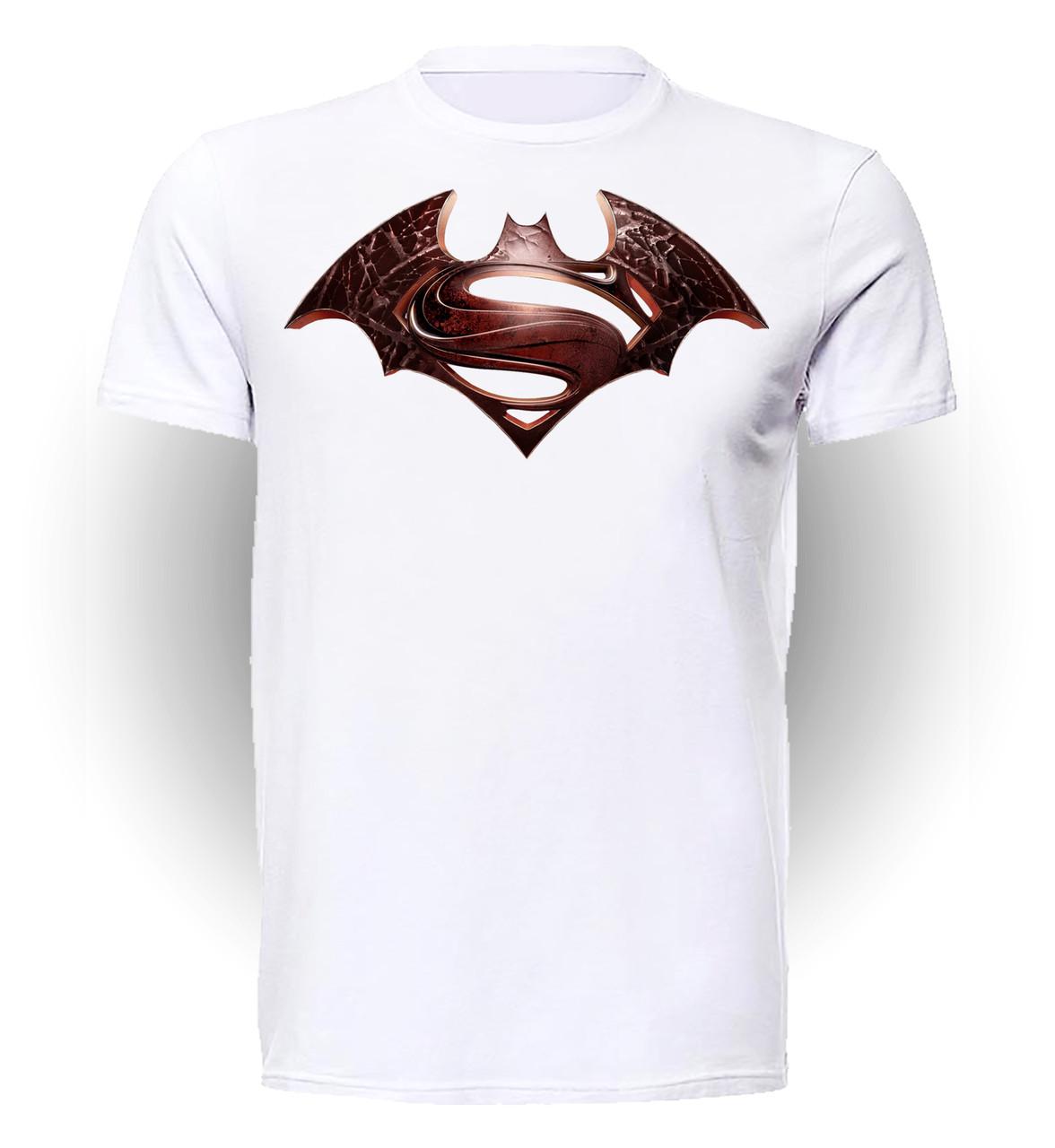 Футболка GeekLand Бэтмен Batman Бэтмен против Супермена лого BM.01.021