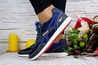Женские кроссовки Reebok Синий\Голубой плотная сетка 10798 р. 38 39