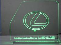 Виготовлення акрілайтів з RGB світлодіодною підсвіткою.