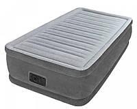 Односпальная надувная кровать Intex + встроенный электронасос 220V 99x191x33 см (67766)