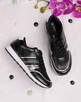 Женские кроссовки черного цвета 18209