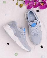 Голубые кроссовки на шнуровке 18221