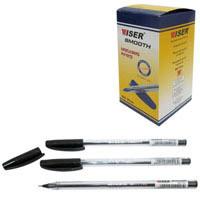 """Ручка маслянная Wiser """"Smooth"""" 0,7мм черная"""