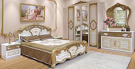 Спальня комплект з ДСП/МДФ 4Д (без матрасу та каркаса) Кармен Нова піно лак Світ Меблів