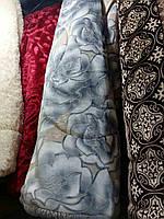 Покрывало-одеяло меховое 210х230. Серые розы