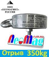 Двухсторонний поисковый магнит ТРИТОН F 2х250, 350кг, N42, ООО НЕОМАГНИТ