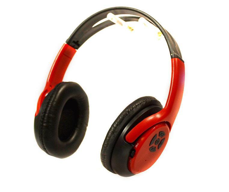 Наушники Bluetooth AT-BT818 с картой памяти, радио. Цвета - черный, розовый, красный
