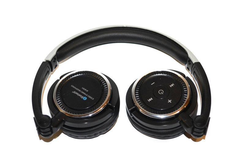 Навушники Bluetooth AT-BT811 (гарнітура) з мікрофоном. Кольори: чорний, білий. пульт управління