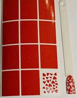 Виниловые трафареты для дизайна ногтей Konad № 2