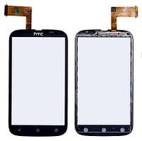 Сенсорный экран HTC Desire V T328w черный (тачскрин, стекло в сборе)