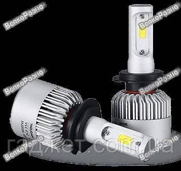 Автомобильные светодиодные лампы дальнего и ближнего света S2 H7, фото 2