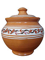Горшок 0.5л Опошнянская керамика (Опошнянская  глиняная посуда)