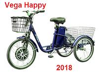 Электровелосипед Vega Happy blue +реверс 2018