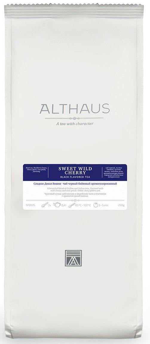 Черный чай Сладкая дикая вишня Althaus 250 г