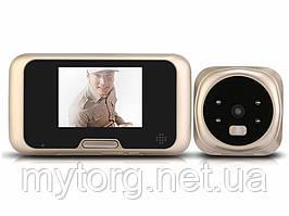 Мини домофон LESHP Vision Doorbell QR-09  Золотой