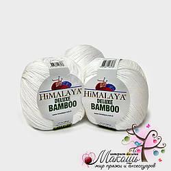 Пряжа Делюкс бамбу Deluxe Bamboo Himalaya, № 124-01, белый