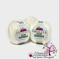 Пряжа Делюкс бамбу Deluxe Bamboo Himalaya, № 124-02, молочный