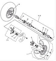 Пыльник шруса передний внутр. на квадроцикл  Speed gear  fors 500