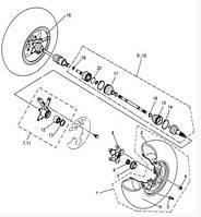 Диск передний на квадроцикл  Speed gear  fors 500