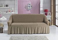Чехол на прямой диван (капуччино)