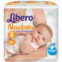 Подгузники Libero Baby Soft 2 Mini 3-6 кг 26 шт